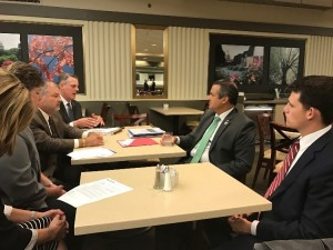 Pictured Above (L-R): Dee Schriner, Trius FCU; Scott Sullivan, NCUL; Steve Swanstrom, Centris FCU; Congressman Don Bacon; and Kyle Noyes, Rep. Bacon's Office.