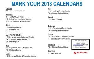 2018 calendar 2